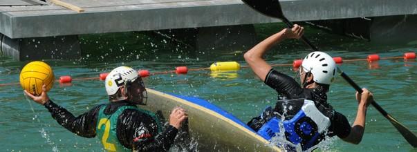 Gefestigte Thurgauer Wildwasserfahrer