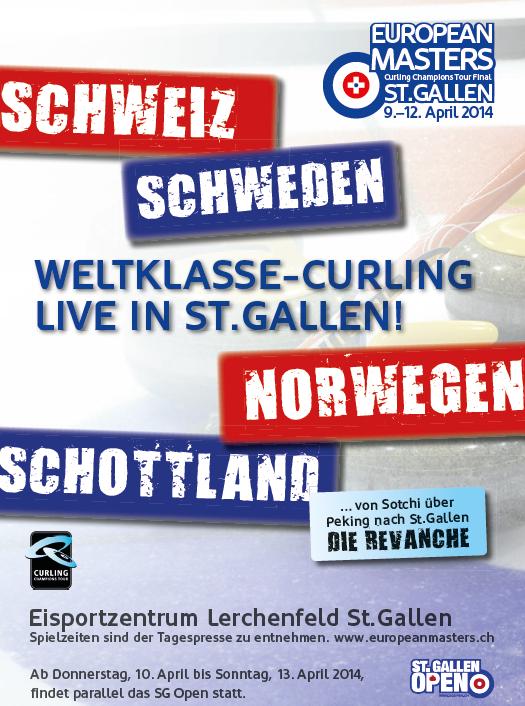 Weltklasse Curling zum dritten Mal in St.Gallen