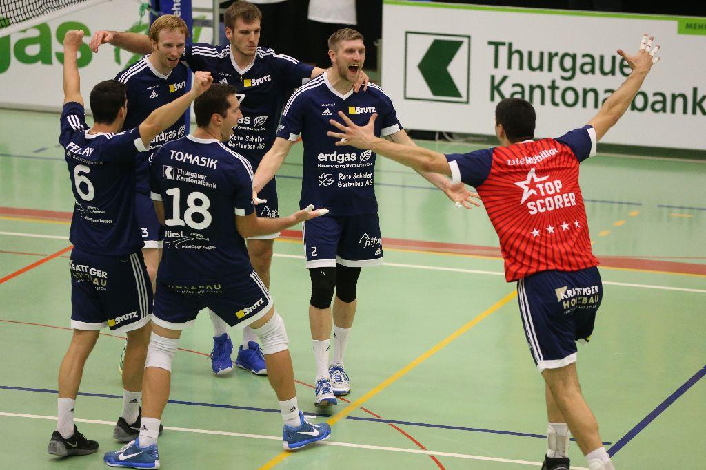 Volley Amriswil fährt in der Fremde den 2. Saisonsieg ein