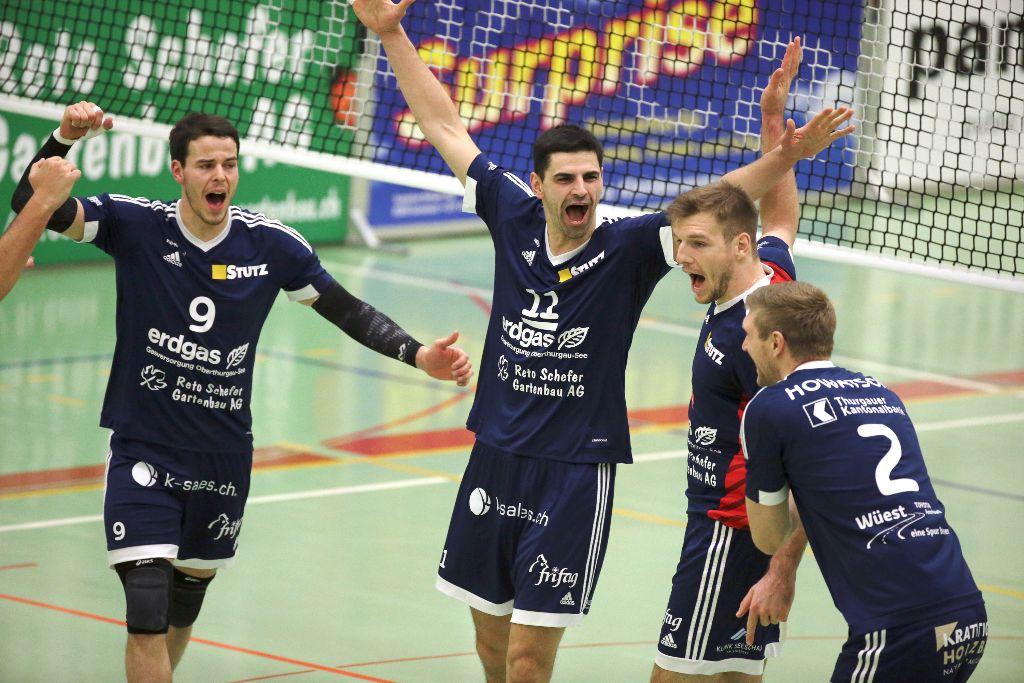 Volley Amriswil schlägt den Tabellenführer Lausanne UC mit 3:0