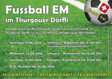 Fussball Europameisterschaft im Thurgauer Dörfli