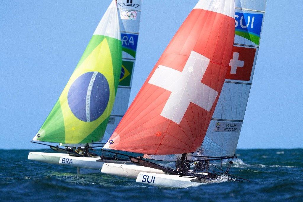 Schweizer Nacra 17 Team Bühler/Brugger ist bereit für das Medal Race