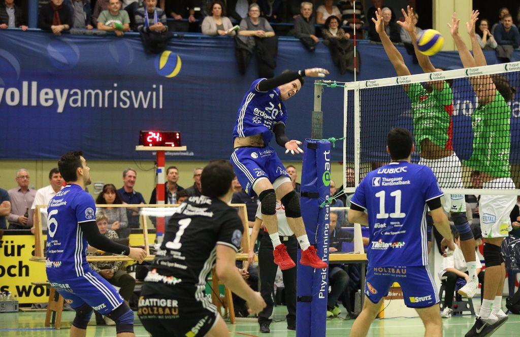 NLA-Spitzenkampf Volley Amriswil gegen Schönenwerd