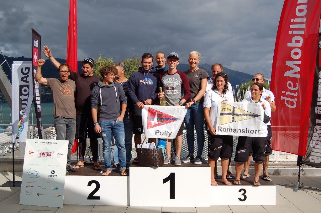 Pully gewinnt die Aufstiegsrunde in die Swiss Sailing Challenge League