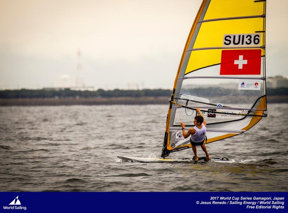 Die Schweiz auf dem Podest beim Segel-Weltcup in Gamagori