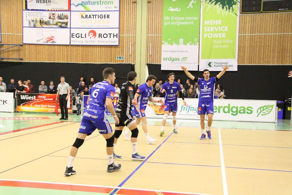 Volley Amriswil gewinnt ohne Probleme