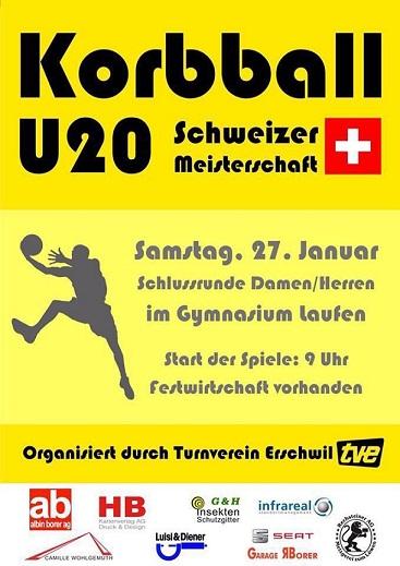 Korbball U20 Elite: Finalissima am Samstag 27.01.18 in Laufen BL mit der Schlussrund