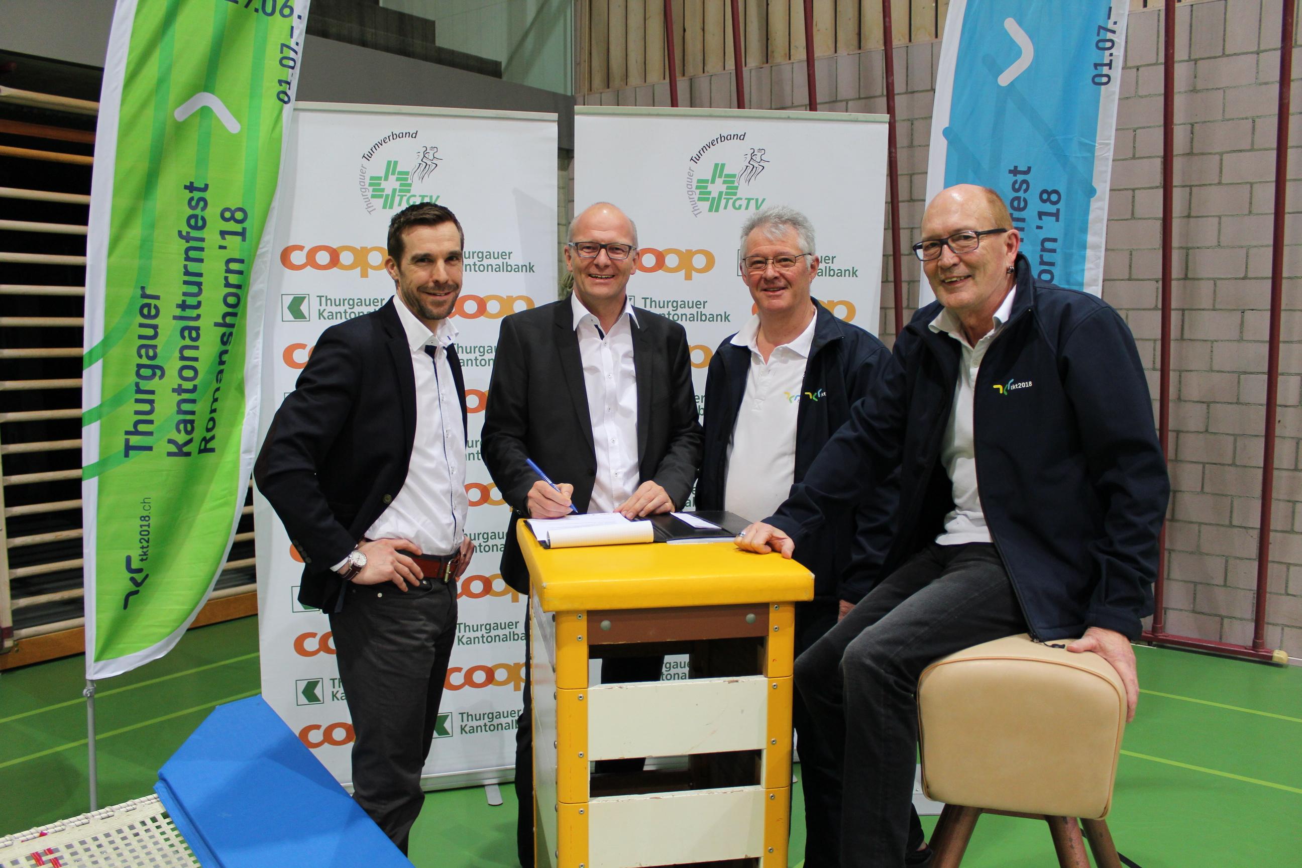 Coop und TKB unterstützen das Kantonalturnfest