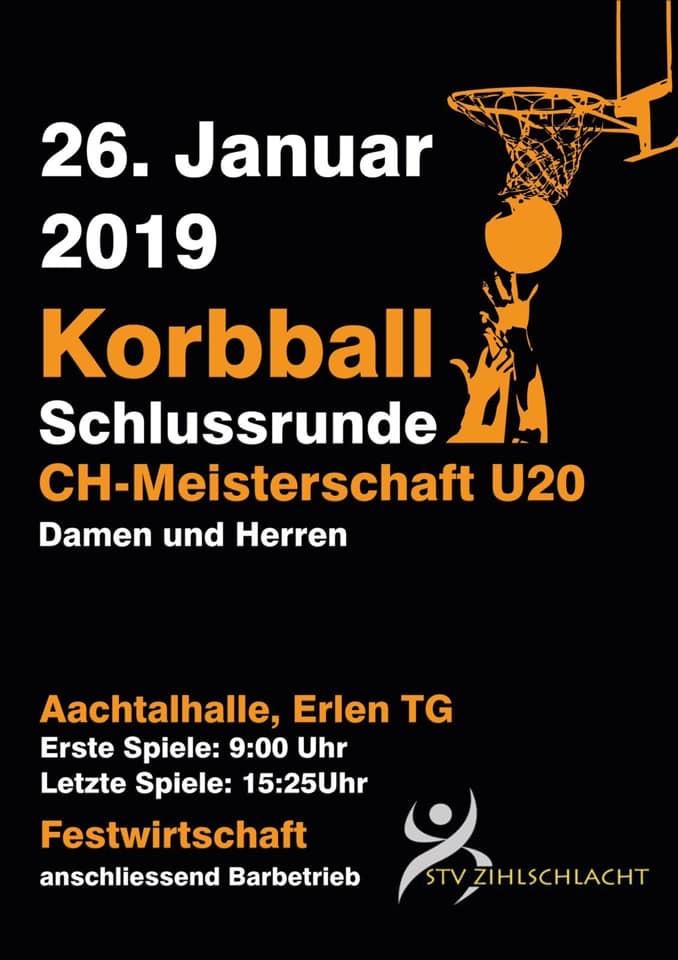 Finalissima der Korbball U20-Elite Meisterschaft 2018/19 der Damen und Herren in Erlen-diesen Samstag!