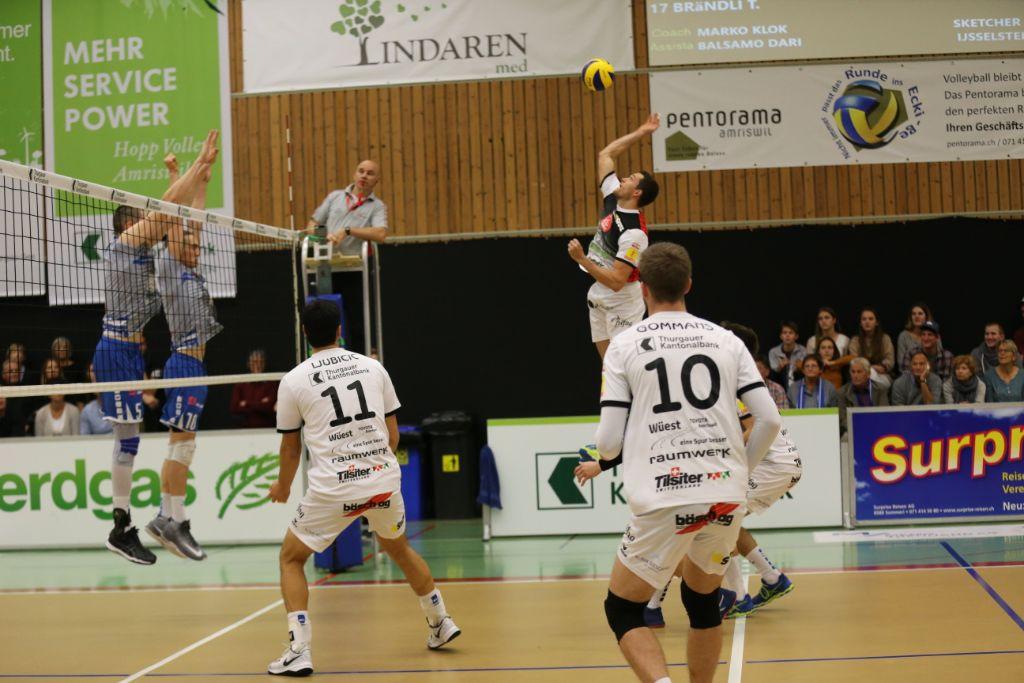 Erste Saisonniederlage für LINDAREN Volley Amriswil
