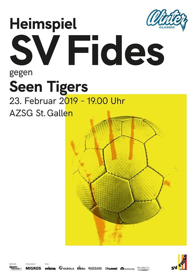 Heimspiel am Samstag gegen die Seen Tigers!