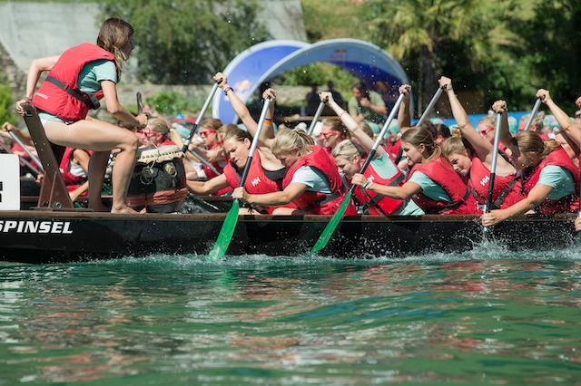28. Drachenbootrennen in Eglisau mit Teams aus China und Katar