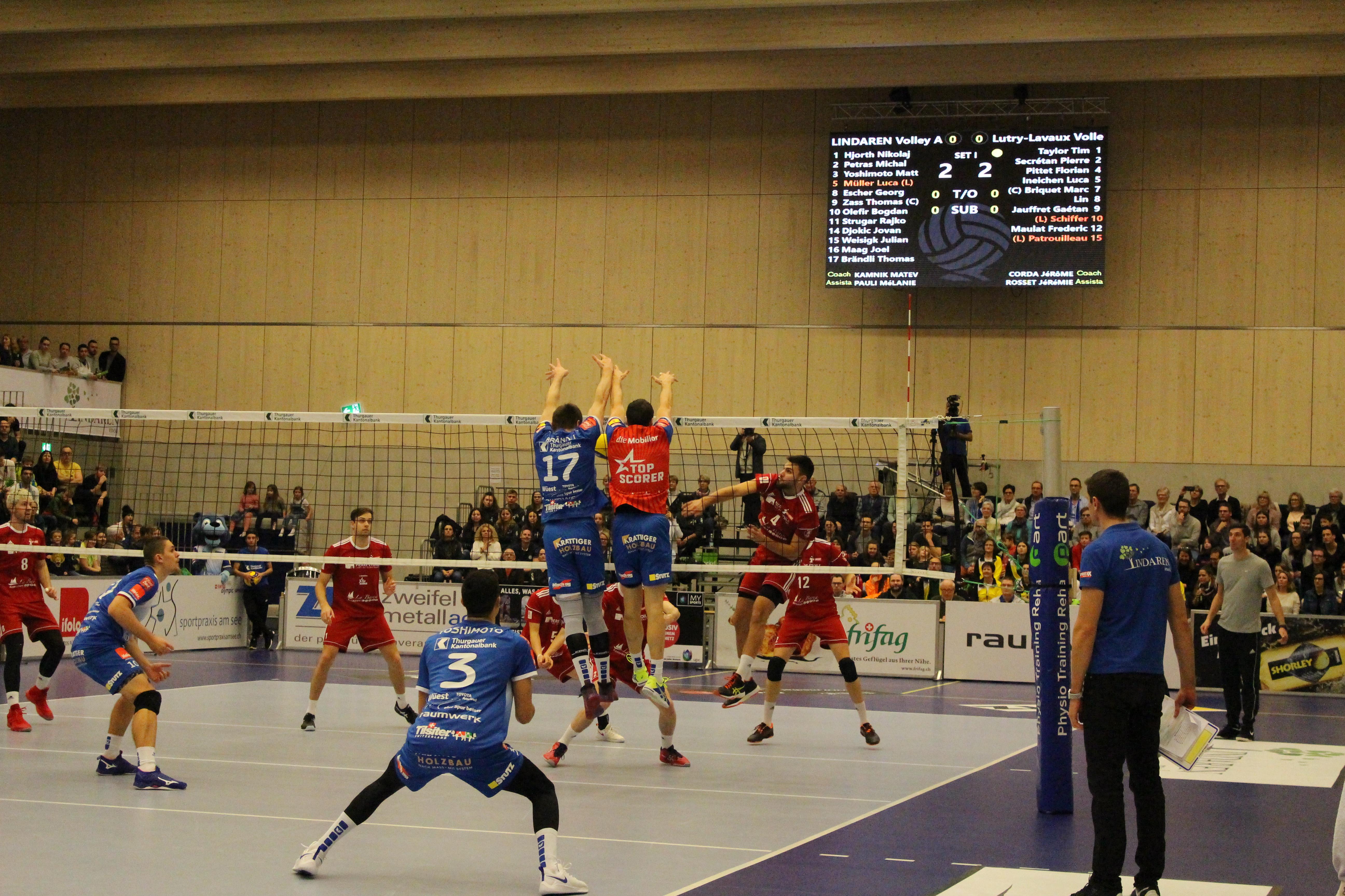 Lutry konnte LINDAREN Volley Amriswil nicht fordern