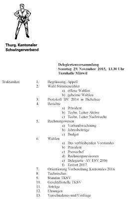 Der TKSV lädt zur Delegiertenversammlung ein