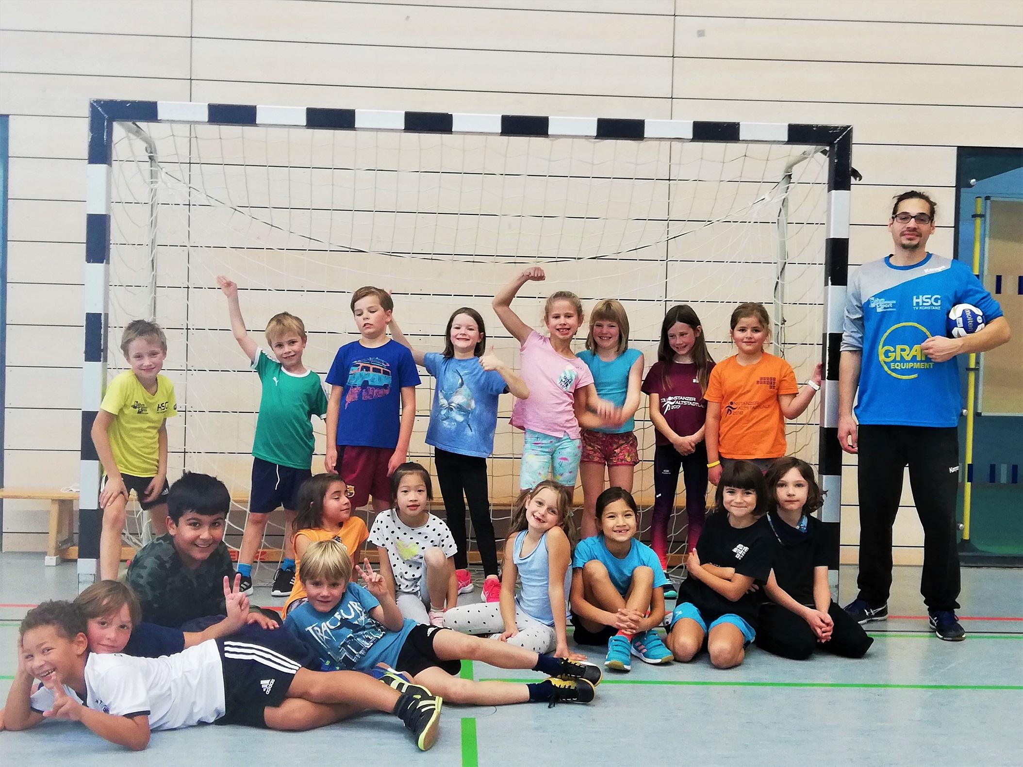 60 Kinder bei Grundschulaktionstag mit der HSG Konstanz
