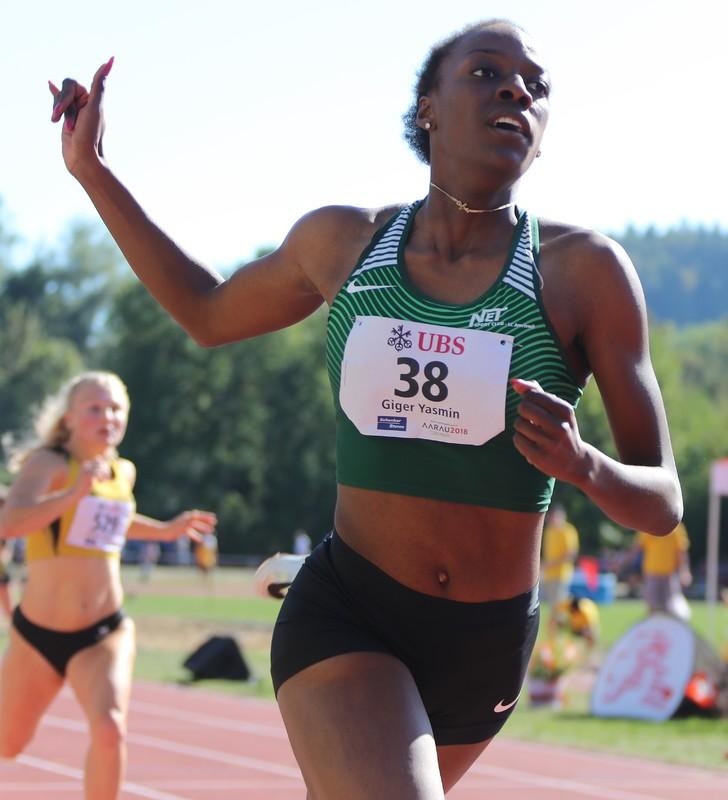 Yasmin Giger mit Schweizer Rekord U23  über 300m Hürden