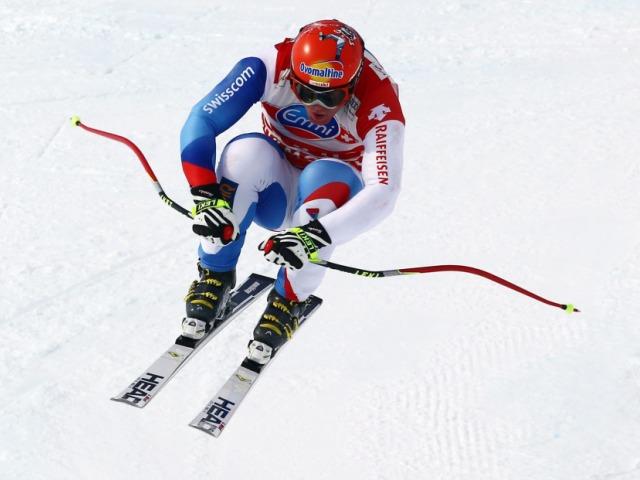 Didier Cuche mit Bestzeit im Abfahrts-Training von Chamonix