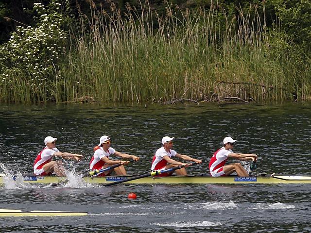 Leichter Vierer hält im Rotsee-Final nicht mit