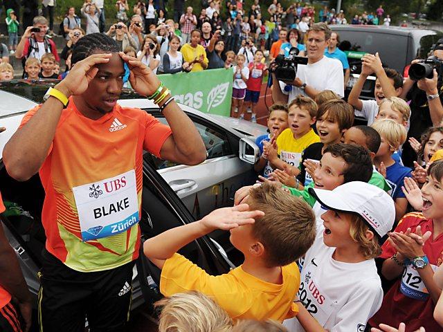 Kids trainierten mit Weltstars wie Yohan Blake