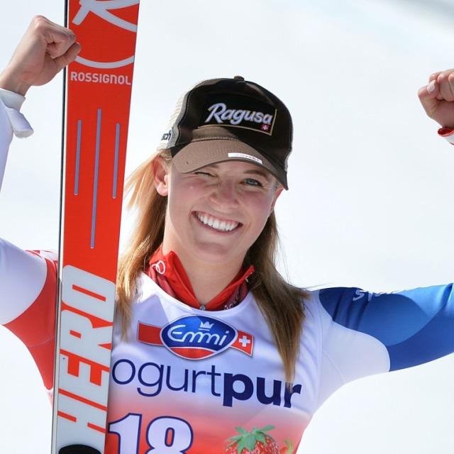 Lara Gut die beste Super-G-Fahrerin des Winters