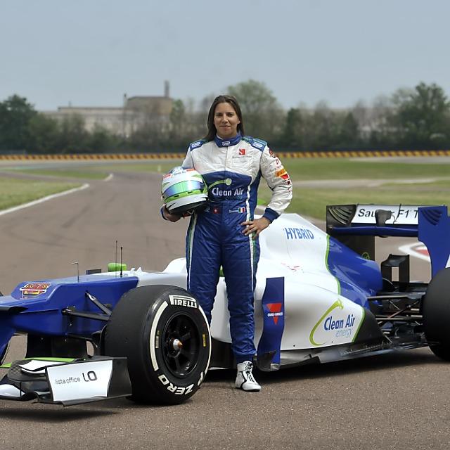 De Silvestros erste Ausfahrten in einem Formel-1-Auto