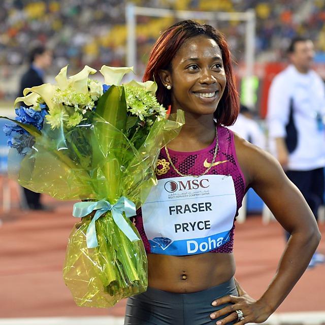 100-m-Olympiasiegerin Fraser-Pryce in Bellinzona
