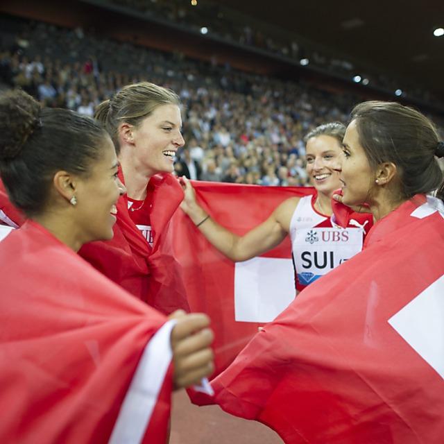 Schweizer Rekord der Frauen-Staffel