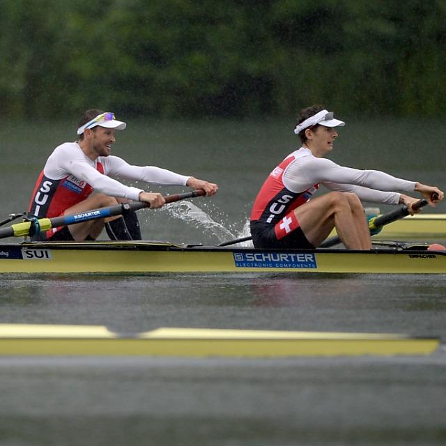 Drei Schweizer Leichtgewichts-Boote im Rotsee-Final