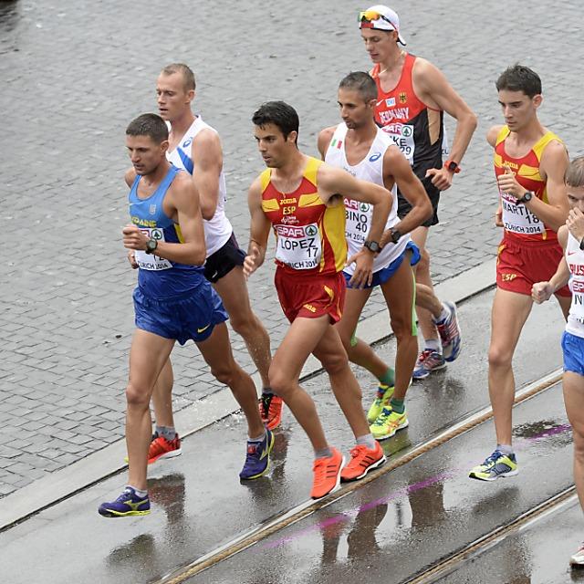 Angel Lopez siegte über 20 km Gehen im Regen von Zürich