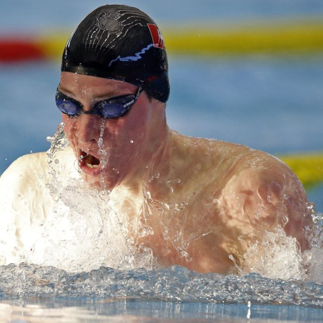 Yannick Käser über 200 m Brust im EM-Halbfinal