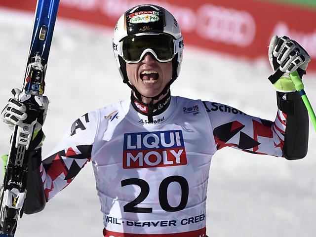 Hannes Reichelt Weltmeister an seinem Berg