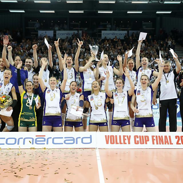 Lausanne zum fünften Mal Volleyball-Cupsieger