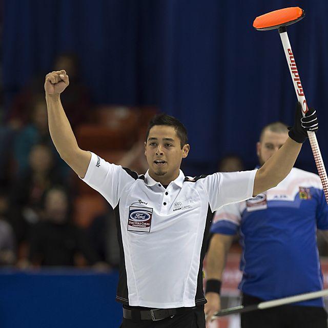 Die Schweizer Curler mit drei Siegen
