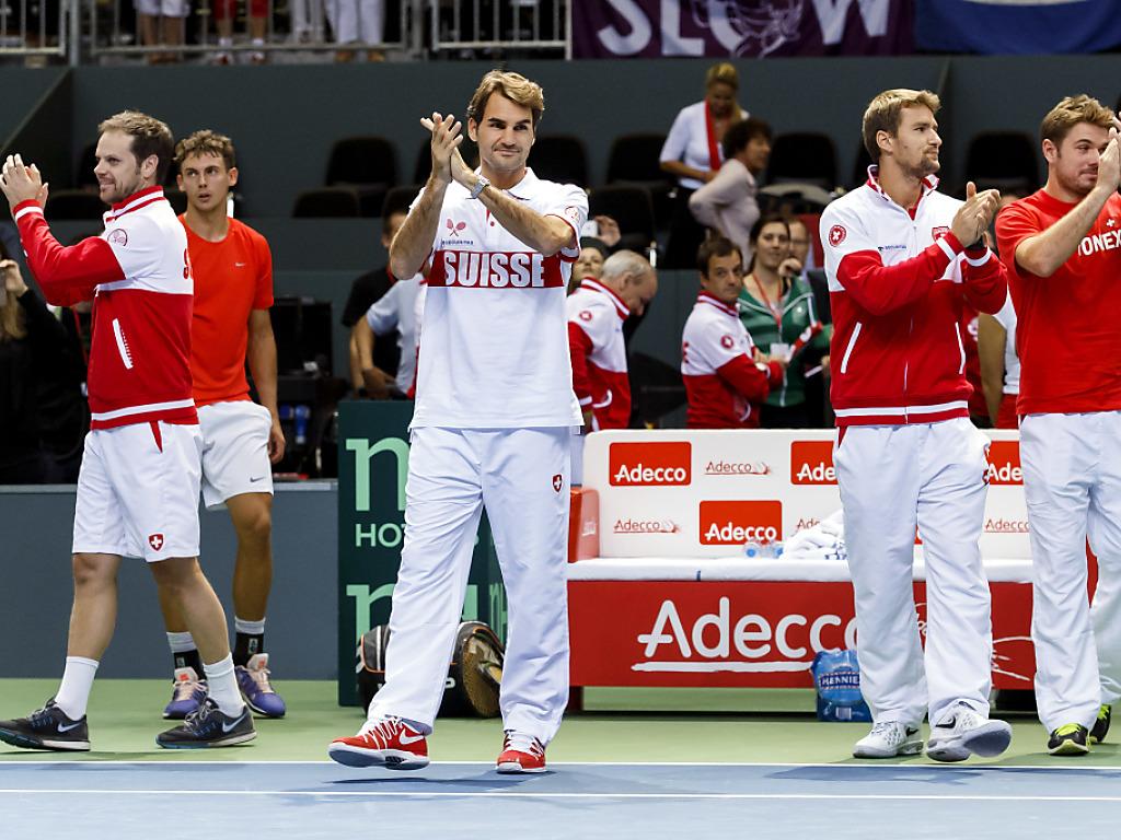 Schweizer Davis-Cup-Team auswärts gegen Italien