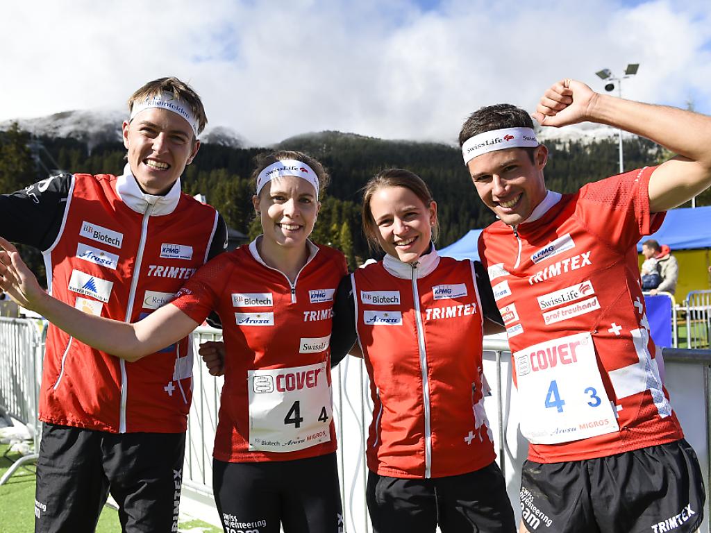 Schweizer OL-Team siegt in der Sprintstaffel
