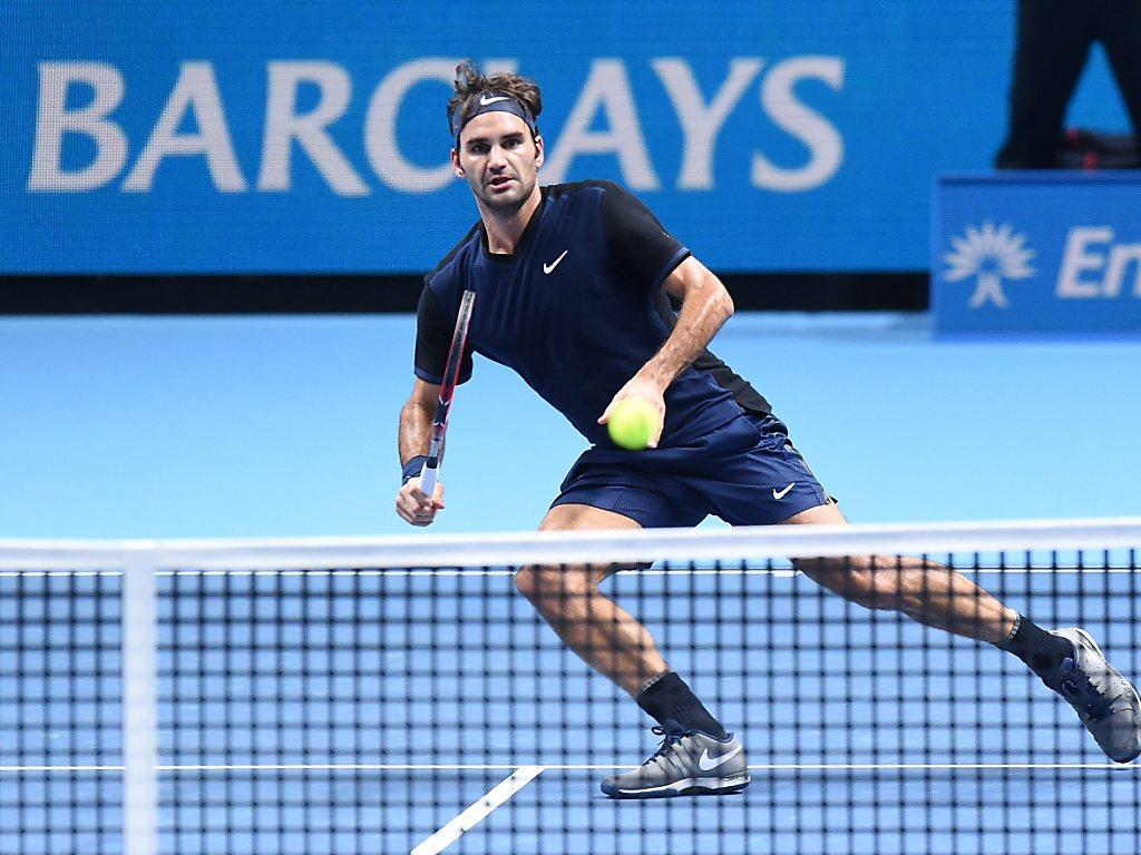 Mühevoller dritter Sieg von Federer