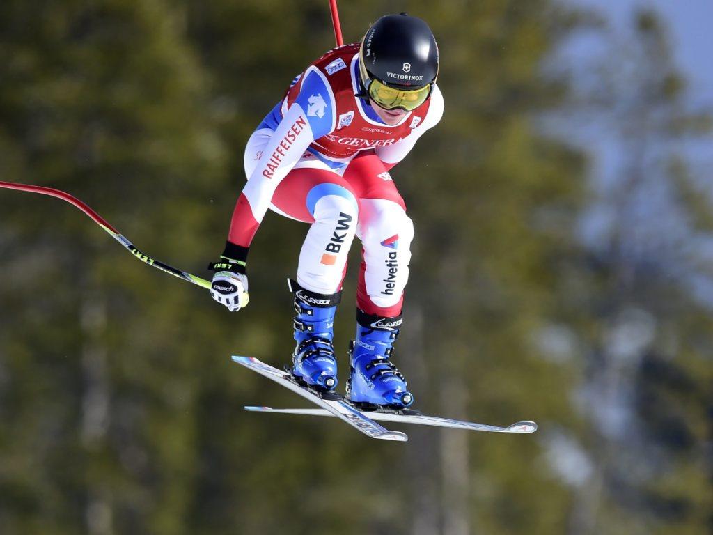 Fabienne Suter Fünfte im ersten Abfahrts-Training in Val d'Isère
