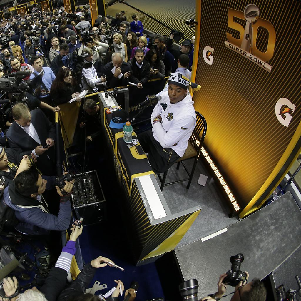 Grossaufmarsch am ersten Medientag vor der Super Bowl