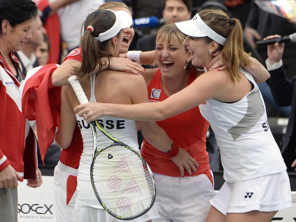 Schweizer Fedcup-Team in Luzern gegen Tschechien