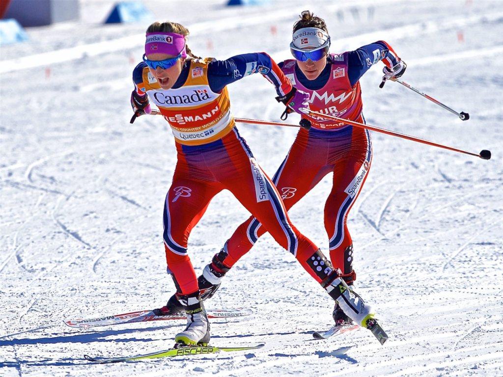 Heidi Weng bezwingt Therese Johaug im Skiathlon