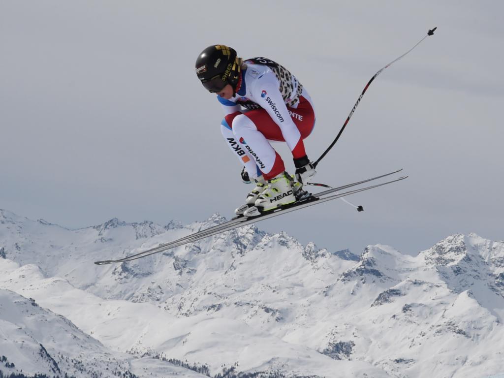 Gut mit Torfehler zu Bestzeit im Abfahrtstraining in St. Moritz