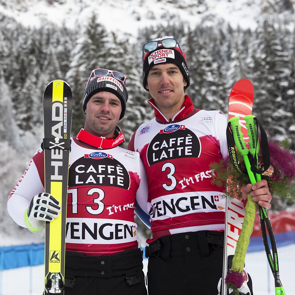 Starke Trainingsfahrt von Feuz und Janka in St. Moritz