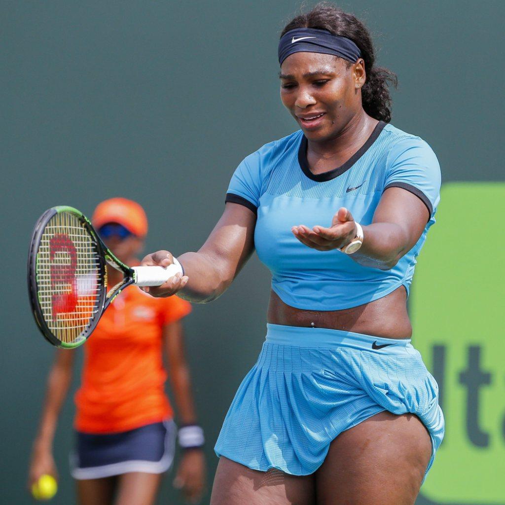 Serena Williams in Miami früh gescheitert