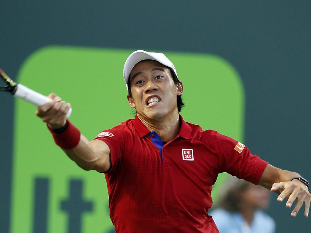 Japaner Nishikori fordert Djokovic im Final