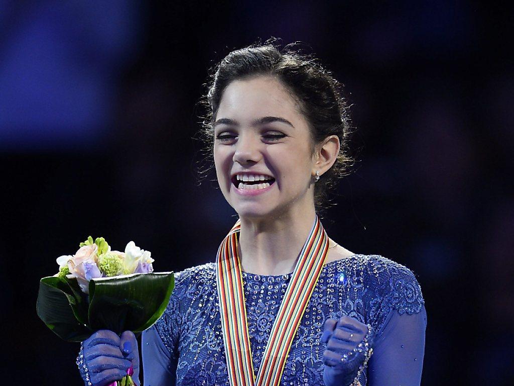 Medwedjewa wird mit überzeugender Kür Eiskunstlauf-Weltmeisterin